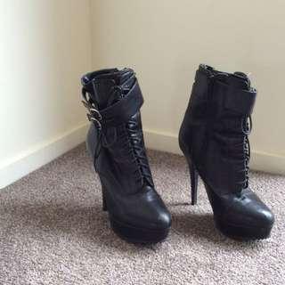 Boot - high heel and wedge