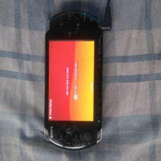PSP 3001 4gb mmc phantom black