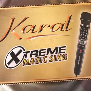RUSH!!!Karat exreme magic sing... twice used only for 1 year. complete packaged