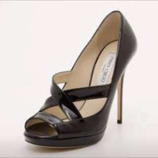 $1150 Authentic Jimmy Choo - Gesture Patent Leather - black - 36