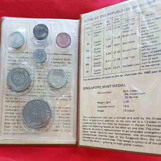 Singapore 1983 1cent to $1