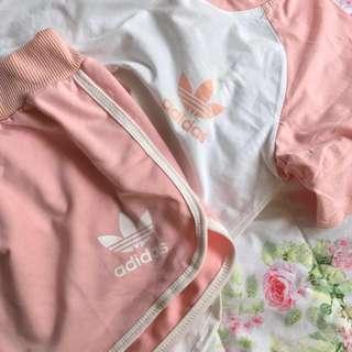 inspired pink adidas set
