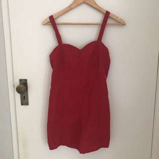 Playsuit with tie up waist