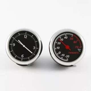BNIB Clock and temperature minture display for car