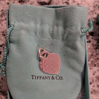 Authentic Tiffany & Co. Notes heart tag with clasp