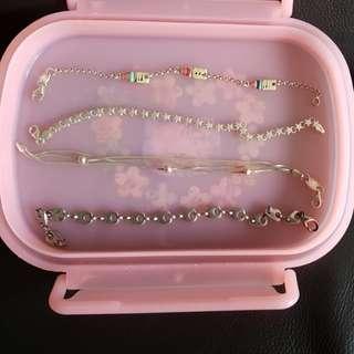 Silver bracelets, necklace, earrings for SALE