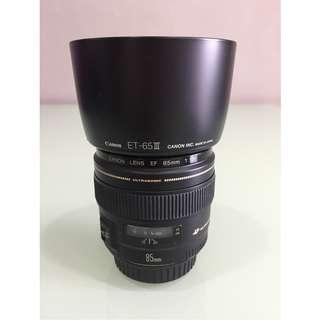 Canon EF 85mm f1.8 USM + Canon Lens Hood