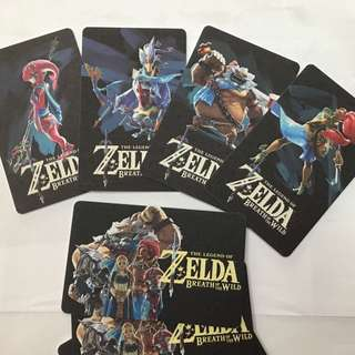 Amiibo cards for real data champions 4 pcs / 22pcs Zelda Breath Of The Wild OR Skyrim