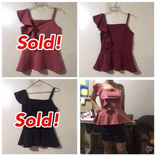 ON SALE! Vanessa asymmetrical top with ruffles sleeveless blouse Zara Forever21 inspired top