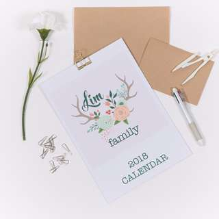 Personalised Family Planner Scheduler A4