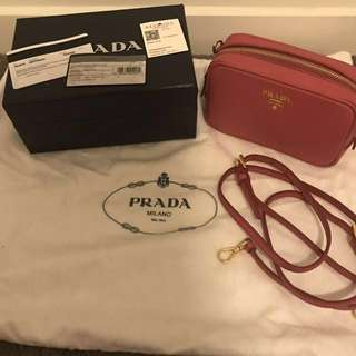🎀🎀🎀🎀🎀 Authentic Prada Camera Crossbody bag in pink