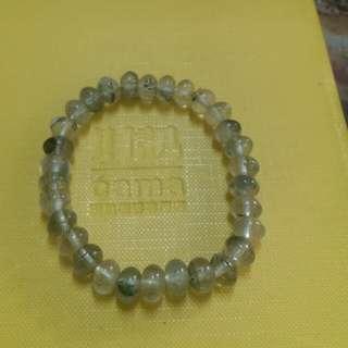 綠幽靈水晶手串