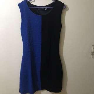101 NEW YORK Blue and Black Short Dress