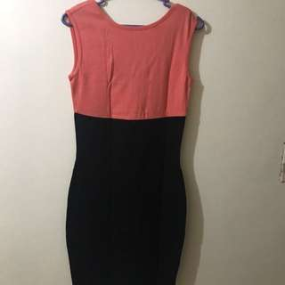 FOREVER21 Orange and Black Short Dress