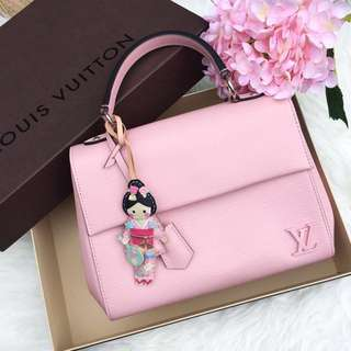 ⚡️Good Deal!⚡️ Full Set! Excellent Condition Louis Vuitton LV Cluny BB In Rose Ballerine Epi Leather and SHW