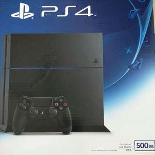 PS4 Console CUH-1206AJet Black 500GB