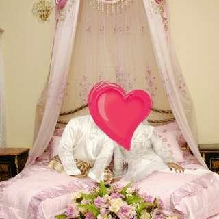 Cadar pengantin pink