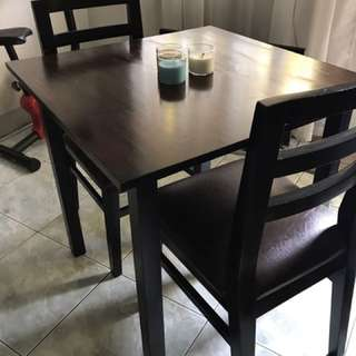 Wooden 2 seater dining table/ set