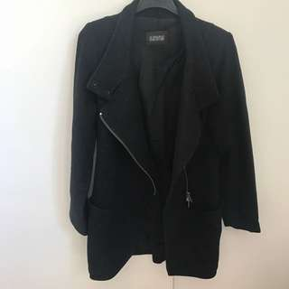 SCANLAN AND THEODORE BLACK CASHMERE WOOL COAT 10