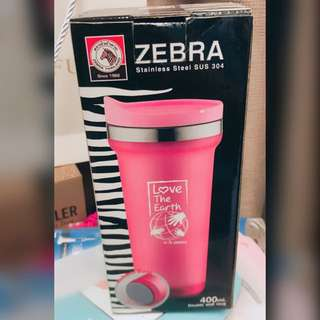 Zebra Stainless Steel Double Wall Mug