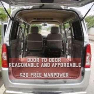 Door to door deli wry $20 onwards free manpower