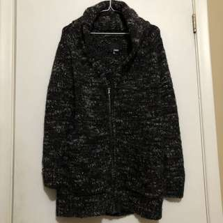 Aritzia Knit Wool Zip Jacket