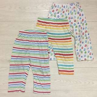Mothercare 3 pack baby pants