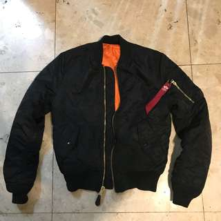 🚚 保證正品 Alpha MA-1 Slim Fit Flight jacket 飛行外套 修身窄版 ma-1外套 黑