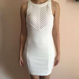 Bodycon dress white - S