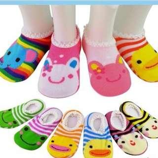 3pcs Baby Non Slip Baby Infant Socks (Random Design) BTK-0013