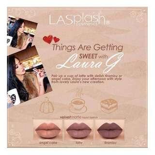**SALES** LA Splash with Laura G Velvetmatte Liquid Lipstick in Latte