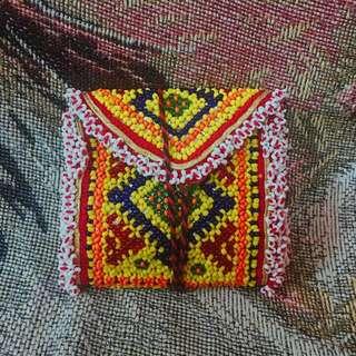 尼泊爾純人手製造彩珠 銀包 100% handmade