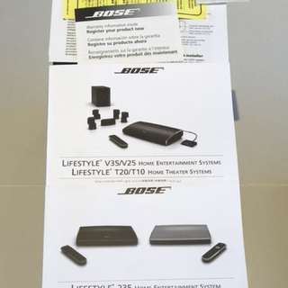 Bose Lifestyle T20 5.1 Home Theater Entertainment System with Front & Back Speaker Wireless Transmitter