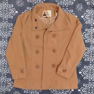 駝色 雙排扣外套