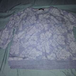 Loose 3/4 sleeve shirt
