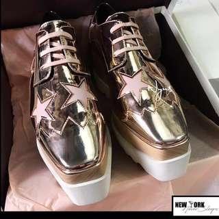 🙌🏻玫瑰金最後一批🌟 快入手👋🏻美國正品Stella McCartney Elyse Star Platform Shoes 經典潮物鬆糕實木㡳鞋(另有多色請查詢)