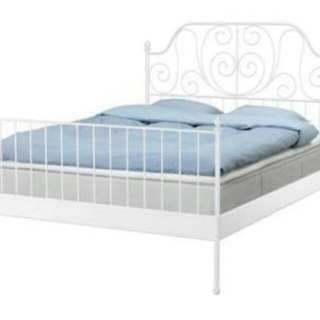 Ikea bed + bonus spring mattress 180x200