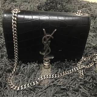 Saint Laurent croc embossed tassel bag