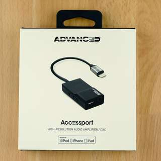 AAW Advanced Accessport MFI Lightning Headphone Amplifier DAC
