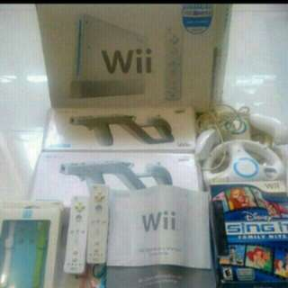 Wii Console with 150 games