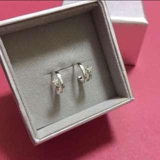 (NEW) Agnes b - 純銀925 Silver Swarovski Earrings