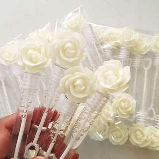 BNIP White Rose Bubble Tube