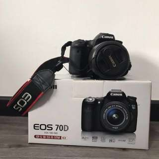 Canon Eos 70D with 18-55mm IS STM