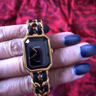 Chanel Premiere Vintage Gold Plated  lady watch