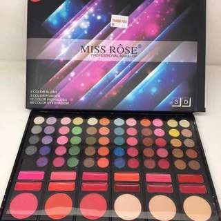 INC POS !!! Miss Rose Professional Make Up Pallette (Eyeshadow/Blush/Hig-hgloss)