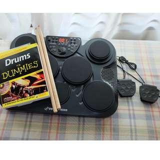 Pyle PTED05 Tabletop Drum Kit