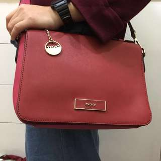 DKNY cross body bag RED