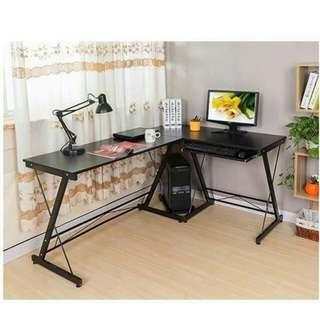 Corner desktop l shaped table