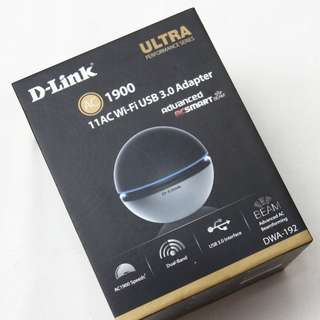 Brand New D-Link AC1900 Wireless Dual Band DWA-192 adapter
