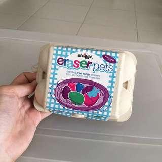 Smiggle Eraser Pets - Free Range Pets in Egg Carton